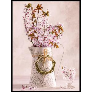 plakat dzban pełny kwiatków