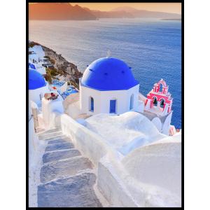 plakat grecja santorini