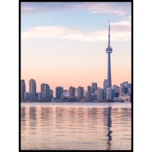 Panorama miasta plakat