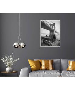 Plakat Most Brookliński czarno biały