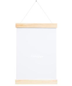 wieszak drewniany na plakat