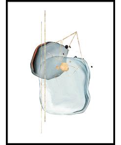 plakat abstrakcja akwarela