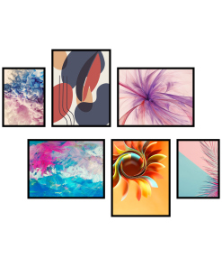zestaw 6 plakatów abstrakcja do mieszkania
