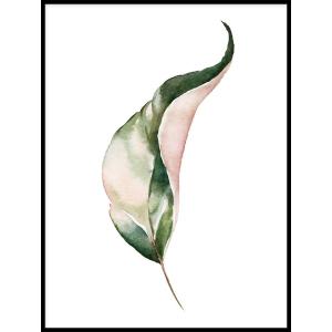 Plakat Zielone Liście - botaniczny