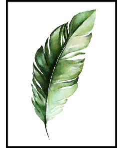 PLAKATY BOTANICZNE z liśćmi zielone liście do salonu