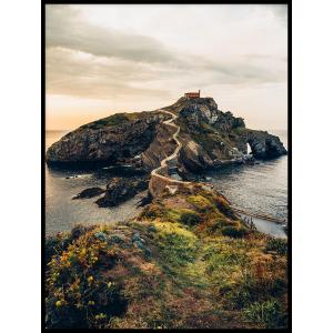 krajonraz wyspy klifu morze plakat