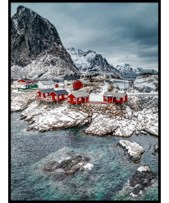Zima w Norwegii plakat na każdą kieszeń