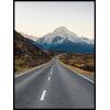 Droga w góry krajobraz szosy i gór plakat