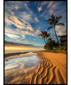 Palmy na wyspie plakat 30x40 bez ramki