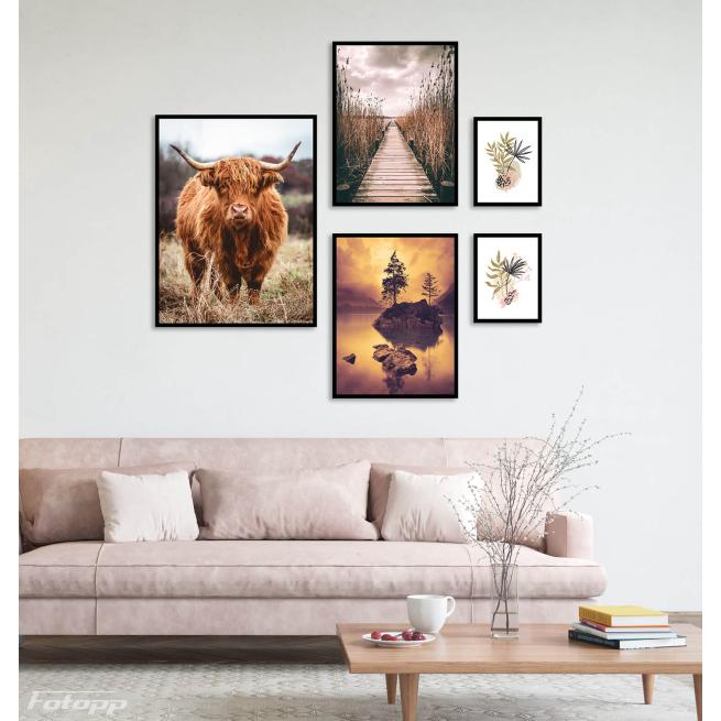 plakaty do mieszkania do salonu z bykiem