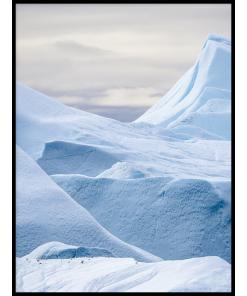 lód na grenlandii plakat z krajobrazem