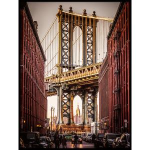 most w mieście piękny plakat