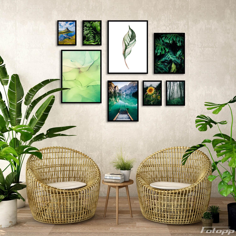 liście na ścianę zestaw plakatów
