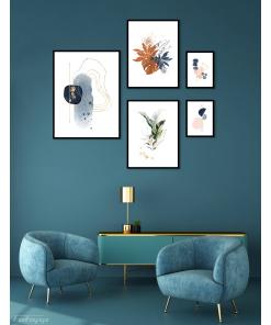 zestaw plakatów abstrakcja grafika