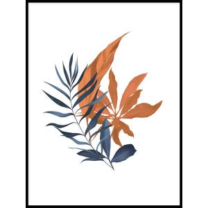kolorowa roślina grafika na plakacie do salonu