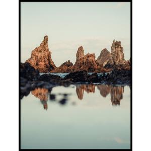 skału głazy klif odbicie plakaty