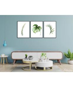 zestaw plakatów do salonu botaniczne