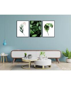 Zielone liście plakaty fajne