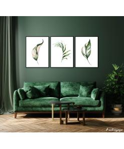 Stylowy plakat z liśćmi idealne do salonu