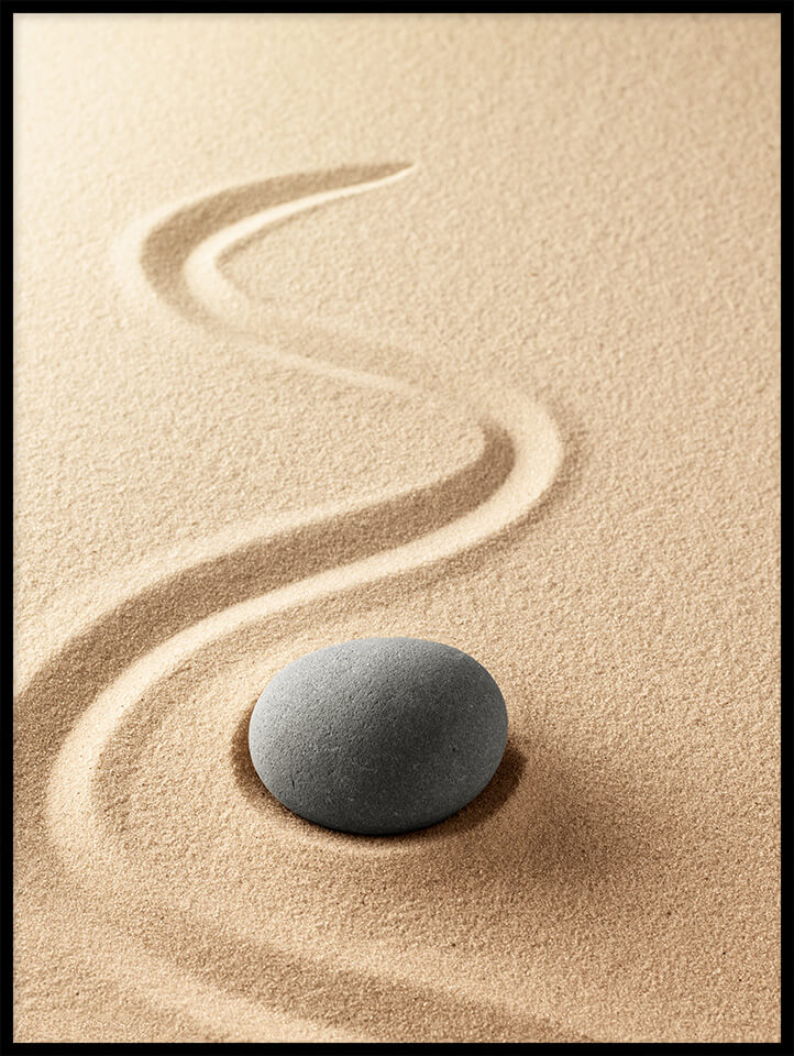 kamień na piasku plakat do kuchni