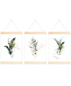 botaniczne plakaty wraz z wieszakiem
