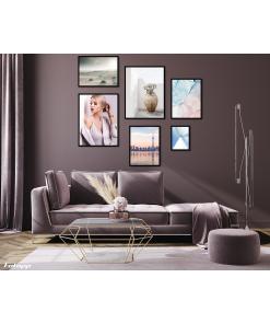 komplet plakatów z portretem kobiety do salonu
