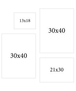 biały zestaw ramek fotograficznych do mieszkania