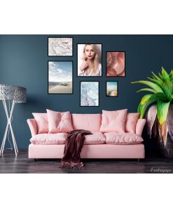 komplet plakatów z portretem kobiety do apartamentu