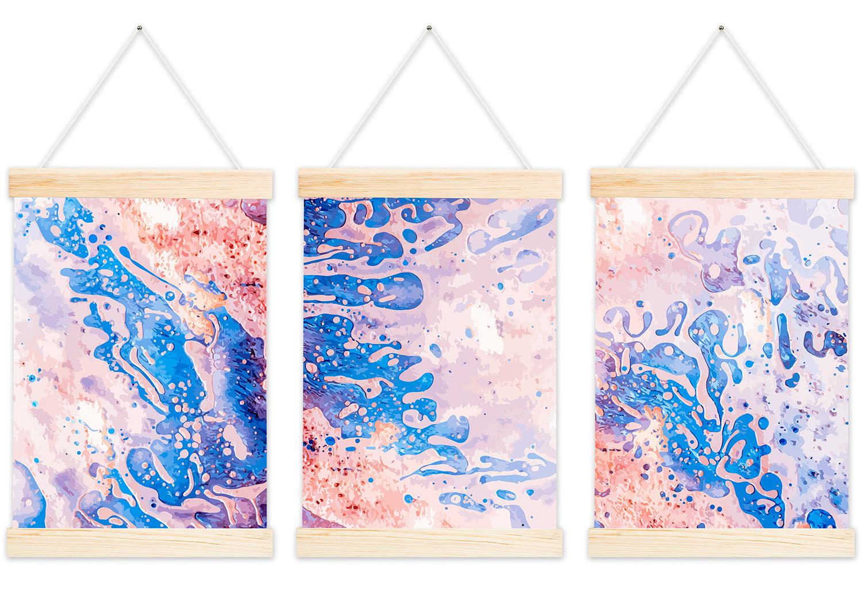 kolorowy zestaw plakatów z wieszakami