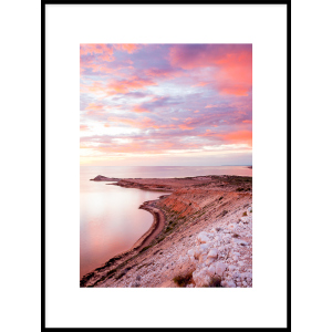 plakat morze piasek niebo błękit