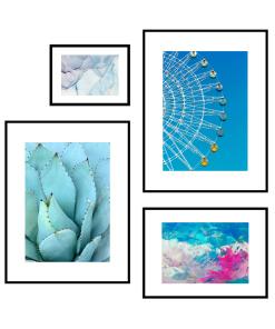 błękitne plakaty inspiracje obrazów
