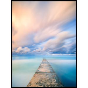 kładka widok na morze plakat