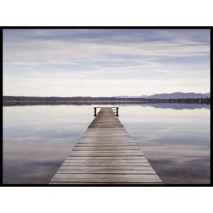 kładka na jeziorze plakaty z krajobrazami