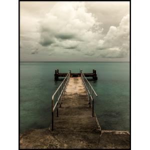 kładka nad morzem plakat do mieszkania