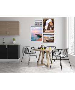 plakaty z widokiem na ocean klif morze
