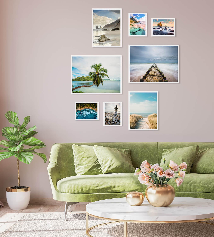 inspiracje plakatów do mieszkania