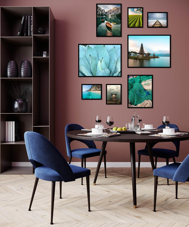 zestaw plakatów nowoczesnych do mieszkania