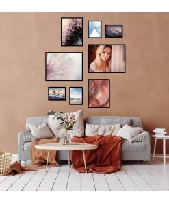 nowoczesne plakaty do mieszkania z portretem kobiety