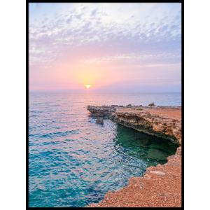 zachód słońca nad morzem plakat do mieszkania