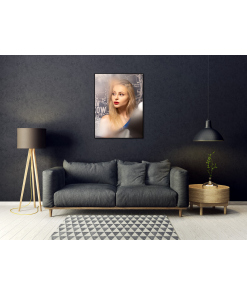 plakat z portretem kobiety do domu