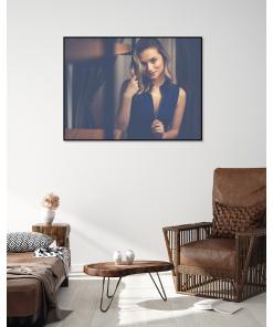 salon plakat na ścianę z kobietą