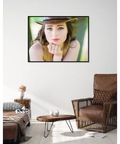 spojrzenie portret kobiety plakat na ścianę sklep