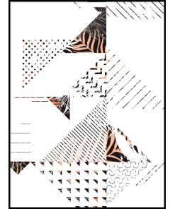 Trójkąty kreski plakat