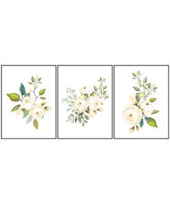 Kwiaty tryptyk do salonu