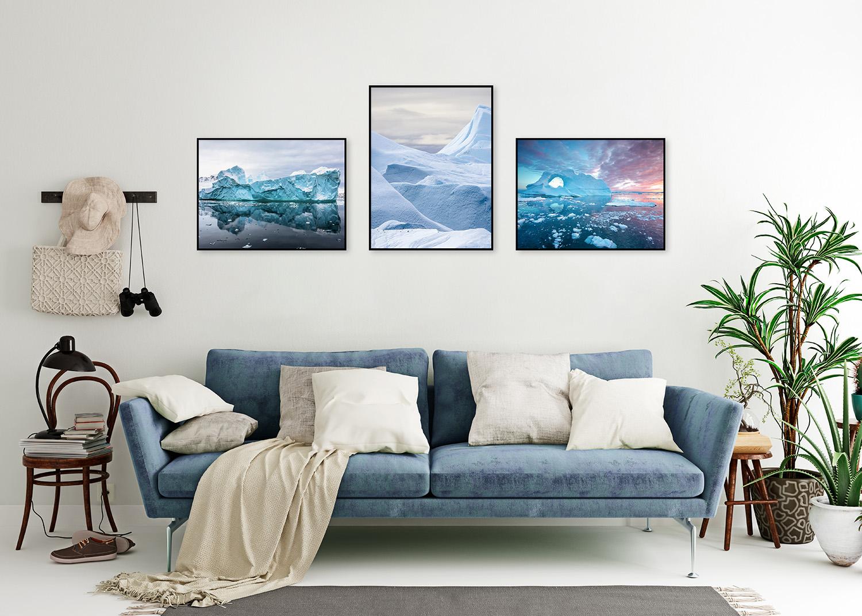plakaty z górą lodową