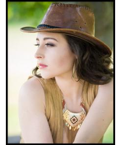 kobieta portret plakat kapelusz fotopp