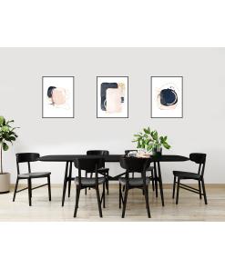 Nowoczesny zestaw 3 obrazów w ramce czarnej 40x50