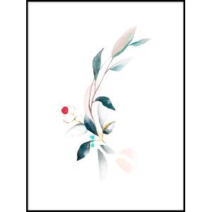 Tryptyk abstrakcja liście inspiracje plakatów do salonu