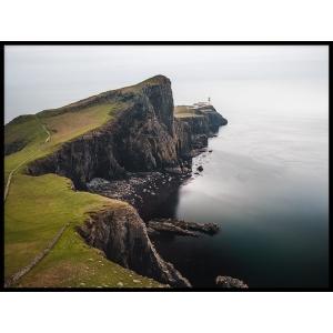plakat sklep krajobraz klif morze