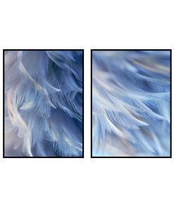 nowoczesne plakaty niebieskie pióra